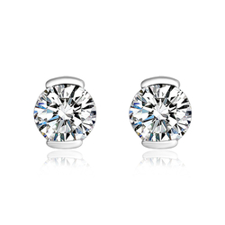 Beautiful Swarovski White Crystals Stud Earrings