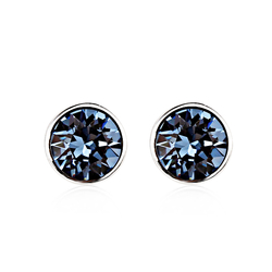 Sweet Blue Montana Swarovski Stud Earrings