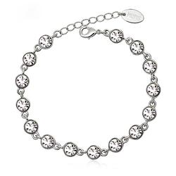 Beautiful White Swarovski Crystal Bracelet