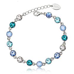 Beautiful Blue Swarovski Crystal Bracelet