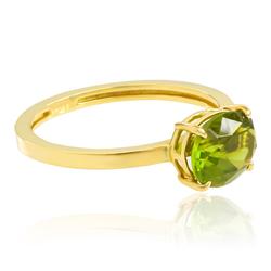 Genuine Peridot Ring in 14K Gold