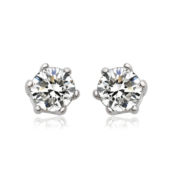 Simulated Diamond Stud Earrings