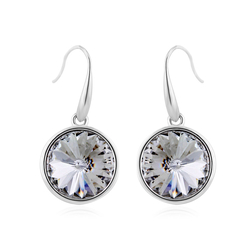 Round Swarovski Crystal Earrings