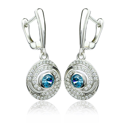 Alexandrite Earrings Color Change Stones in Sterling Silver