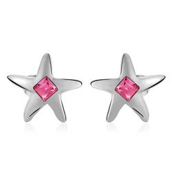 Pink Swarovski Earring Star Shaped