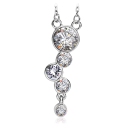 Beautiful Necklace with White Swarovski Crystal