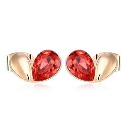 Beautiful Red Swarovski Heart Earrings