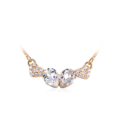 Necklace with Swarovski Crystal and Golden Plated