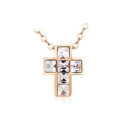 Swarovski Crystal Cross with 18K Gold Plated