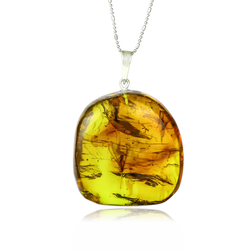 Genuine Amber Pendant From Mexico
