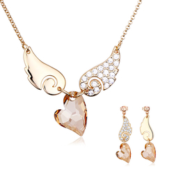 Beautiful Champagne Necklace and Earring Set