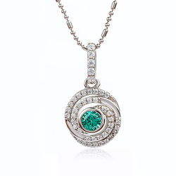 Silver Pendant With Alexandrite