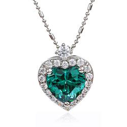 Silver Pendant Heart Pendant With Alexandrite