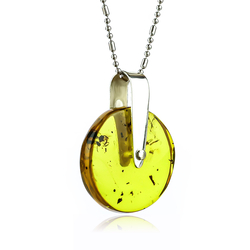 Natural Amber Mosquitoe Sterling Silver Pendant 25mm x 20mm