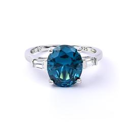 Pear Cut Alexandrite Silver Ring