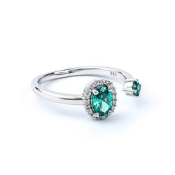 Double Stone Alexandrite Ring