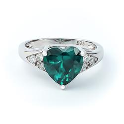 Beautiful Alexandrite Ring With Heart Shape Cut