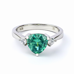 Trillion Cut Alexandrite Ring