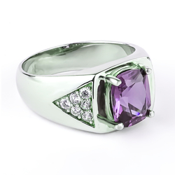 Color Changing Alexandrite Ring For Men