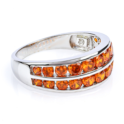 Sterling Silver Ring with Fire Opal