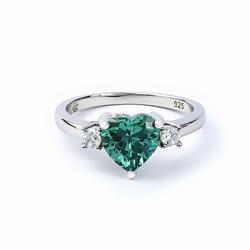 Heart Shape Alexandrite Ring