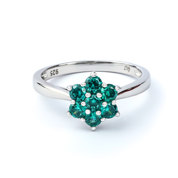Alexandrite Ring With Solid Silver Flower
