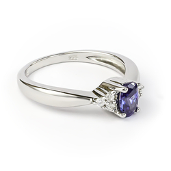 Tanzanite Ring Crafted in 925 Sterling Silver