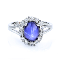 Star Sapphire Sterling Silver Ring