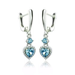 Alexandrite Dangling Earrings Color Change Stones in Sterling Silver