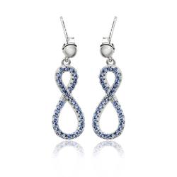 Sterling Silver Tanzanite Infinity Earrings
