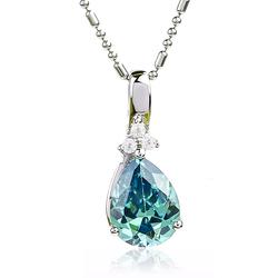 Pear Cut Alexandrite Pendant Necklace 925 Silver