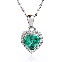 Silver Heart Pendant With Alexandrite