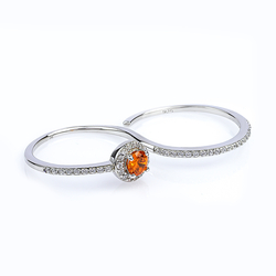Double Fire Opal Ring With Solid Silver