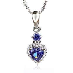 Tanzanite Pendant 925 Silver Heart Shape
