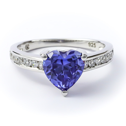 Tanzanite Ring Sterling Silver 925 Heart