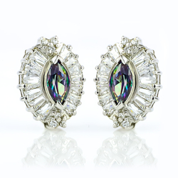 Very Elegant Mystic Topaz .925 Sterling Silver Earrings