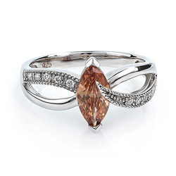 Marquise Cut Zultanite Silver Ring