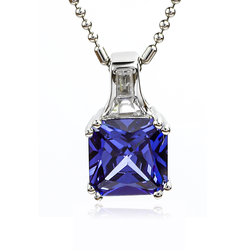 Tanzanite Pendant With Silver