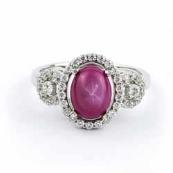 Star Ruby Pave Ring