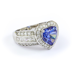 Heart Shape Cut Tanzanite Ring