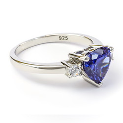 Heart Shape Tanzanite Ring