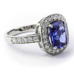 Tanzanite Ring Sterling Silver 925