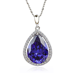 Tanzanite Pendant With 925 Sterling Silver