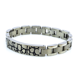 Titanium Stone Effect Bracelet For Men