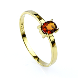 10K Solid Yellow Gold Ring with a Genuine Sapphire