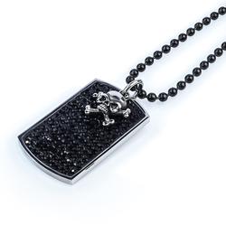 Stainless Black Steel Skull Necklace
