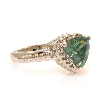 Gorgeous Trillion Cut Alexandrite .925 Silver Ring