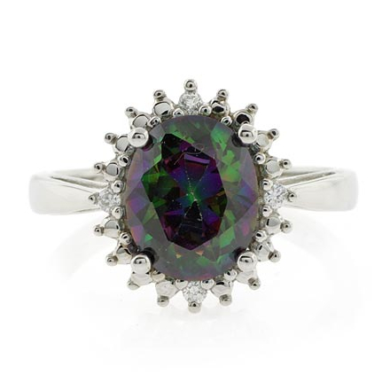Smoked Topaz Engagement Silver Ring