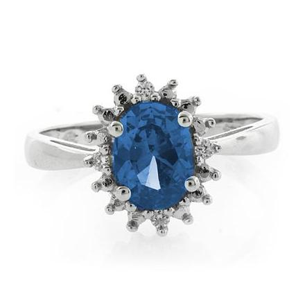 Elegante Anillo de Plata .925 con Topacio Azul