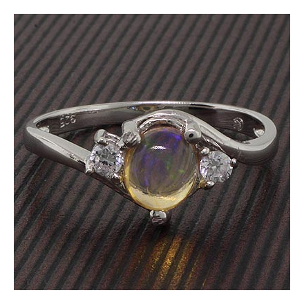 Authentic Mexican Jelly Opal .925 Silver Ring